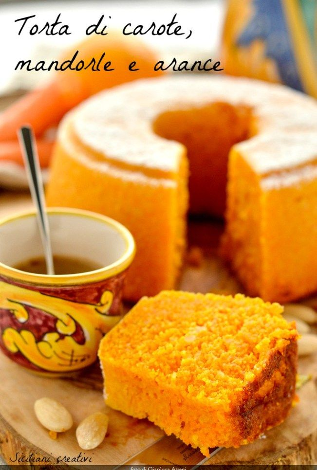 torta di carote mandorle e arance