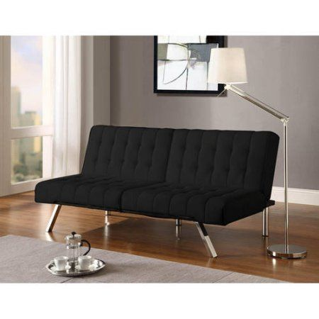 Emily Convertible Faux Leather Futon, Multiple Colors