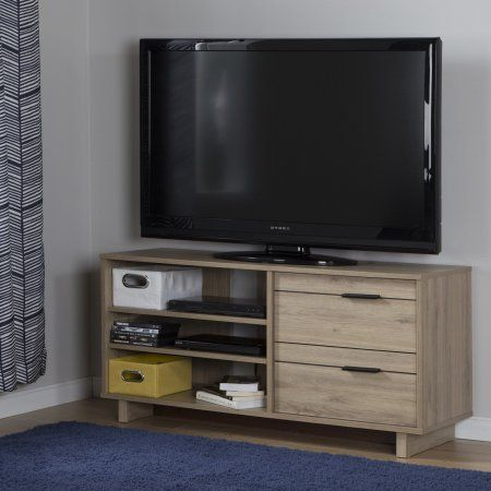 South Shore Fynn TV Stand with Drawers for TVs up to 55 inch, Multiple Finishes, Brown