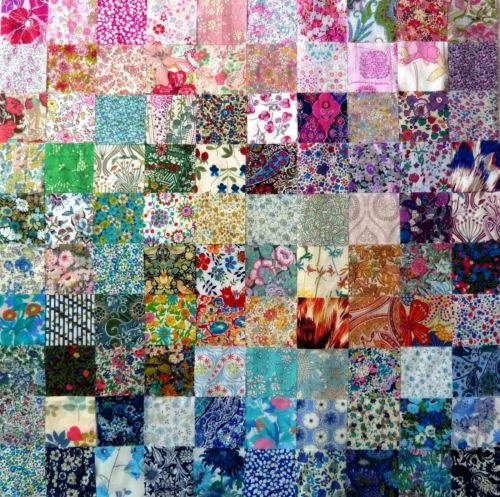 Liberty of London Fabric. I just love Liberty fabric and this quilt has great colour sense.