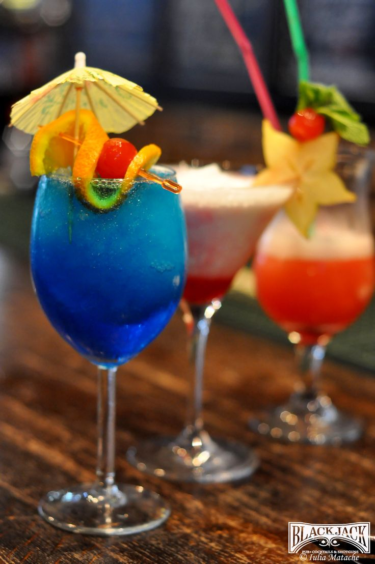 Three amazing cocktails perfect in the summer! Blue Lagoon, Dolce Vita and Angel Kiss