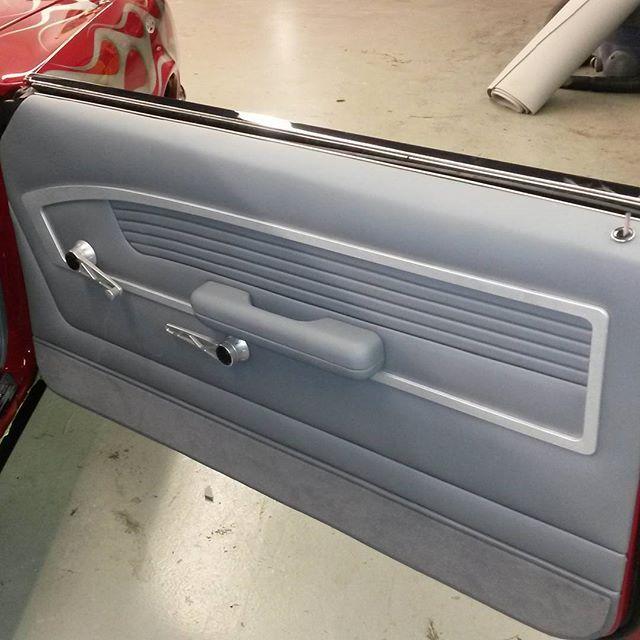 69 Camaro Red Black Billet Grey Custom Dash Door Panels Console