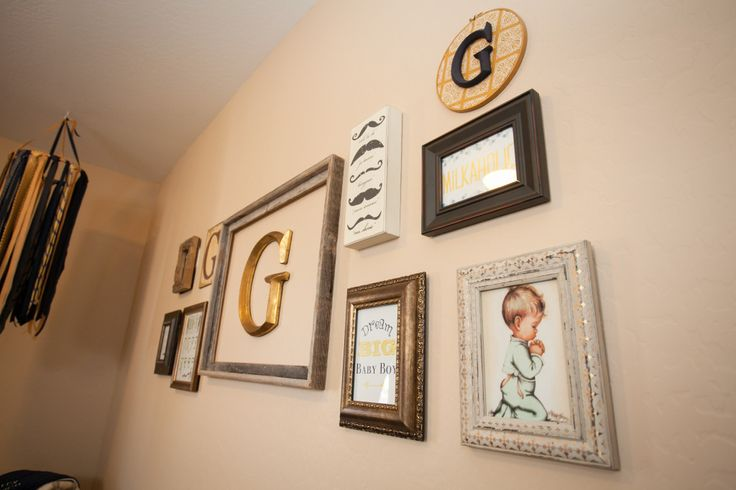 Little Gentleman's #nursery gallery wall.: Moustache Art