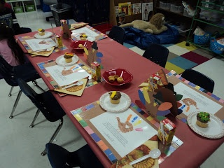 Thanksgiving Feast placemats and crafts