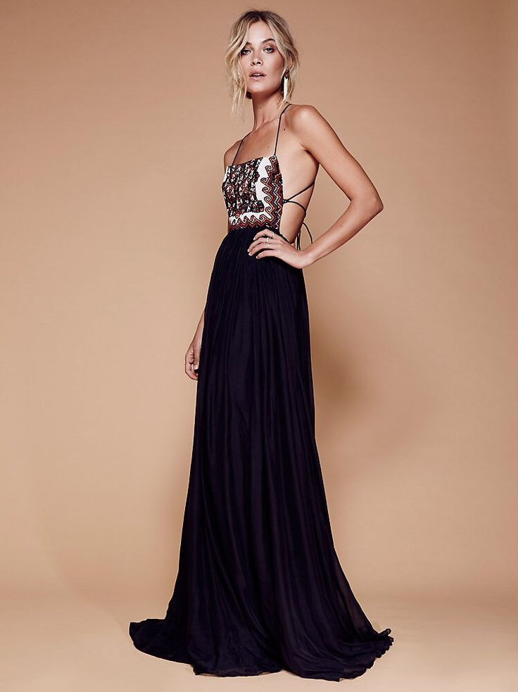 Embellished Silk Maxi from Free People!