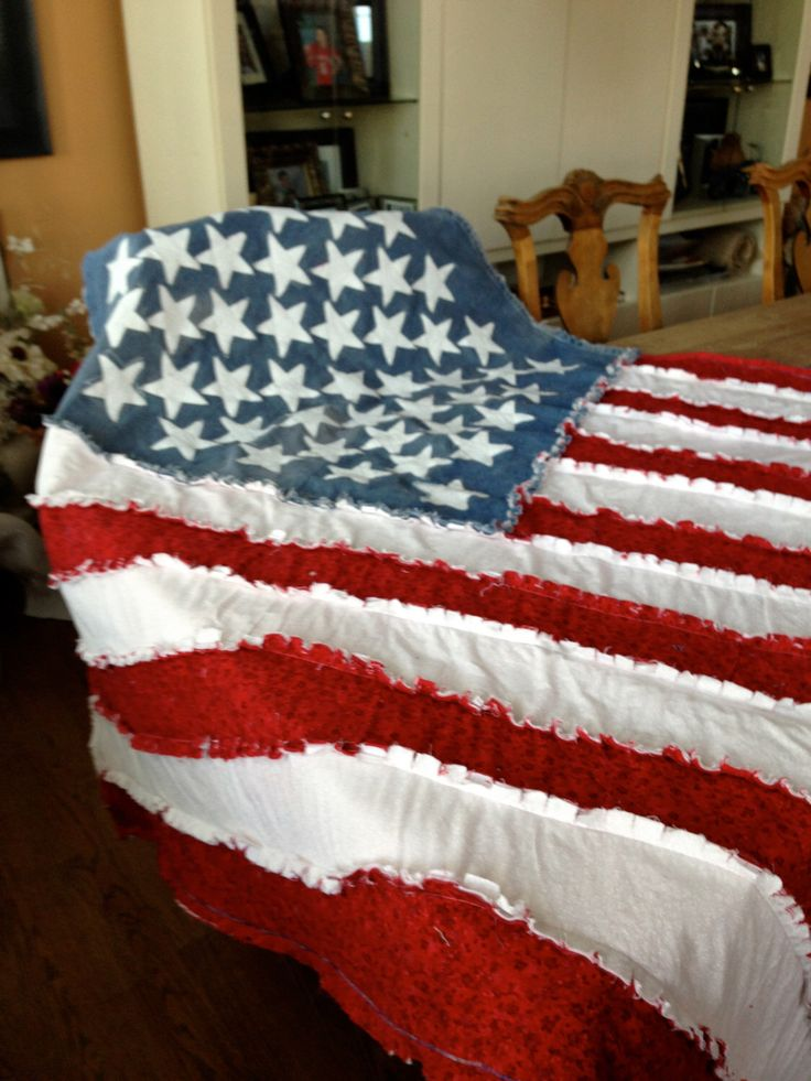 A personal favorite from my Etsy shop https://www.etsy.com/listing/119890093/gorgeous-american-flag-ragged-blanket-or