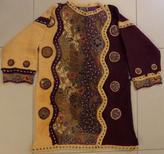 Purple and Gold Long-sleeved Jacket on Etsy, $180.00