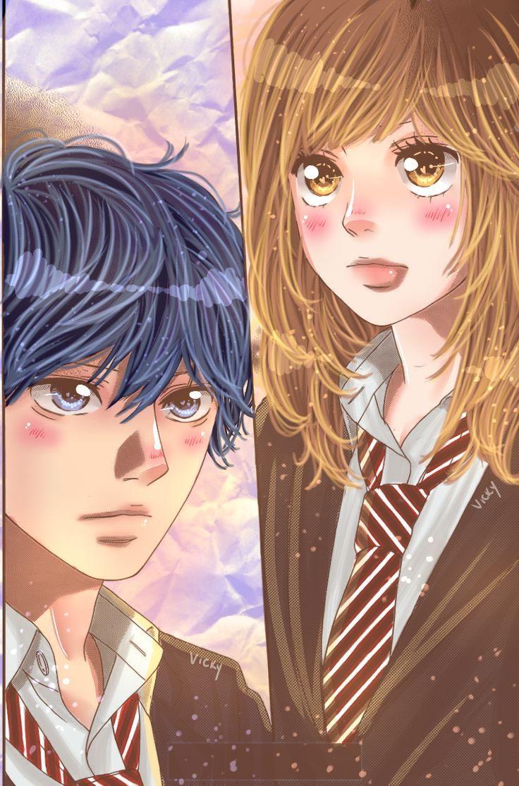 Kou and Futaba Ao Haru Ride Anime de romance, Anime e