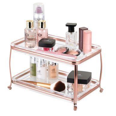 2 Tier Vanity Makeup Cosmetic Storage Organizer Tray