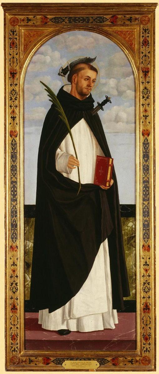 San Pedro Mártir  Vittore Carpaccio, c1490, Philbrook Museum of Art, Oklahoma, USA.  Itzel Miron
