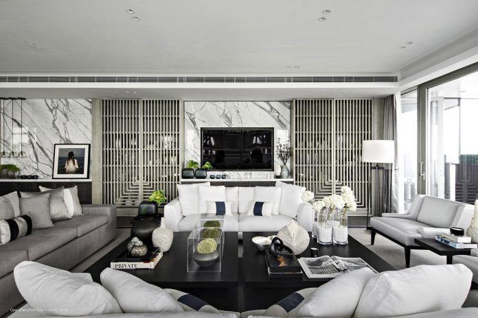 Deep black is full of impact on it's own, but making use of silver, white or charcoal greys can bring an element of energy to the room. Find more black and silver living room ideas here: https://nyde.co.uk/blog/black-and-silver-living-room-ideas/