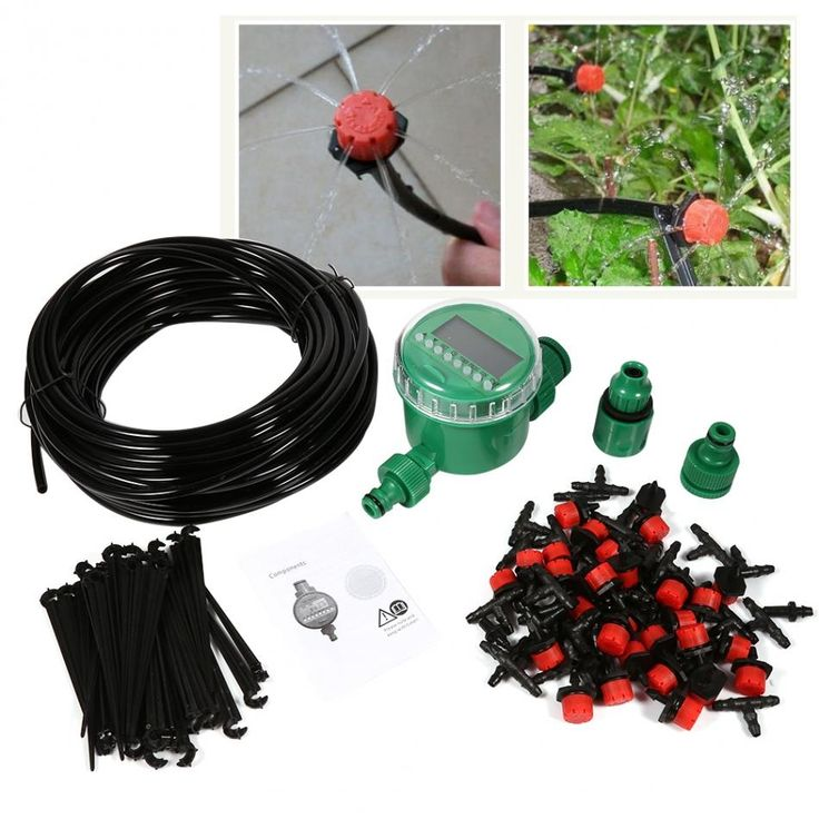 31.29$  Watch here - http://aliixz.shopchina.info/go.php?t=32806082132 -  1 Set 20m Micro Irrigation System Electronic Timer Plant Self Watering Drip Garden Dripper Hose Kits Tee Faucet Connector  #shopstyle
