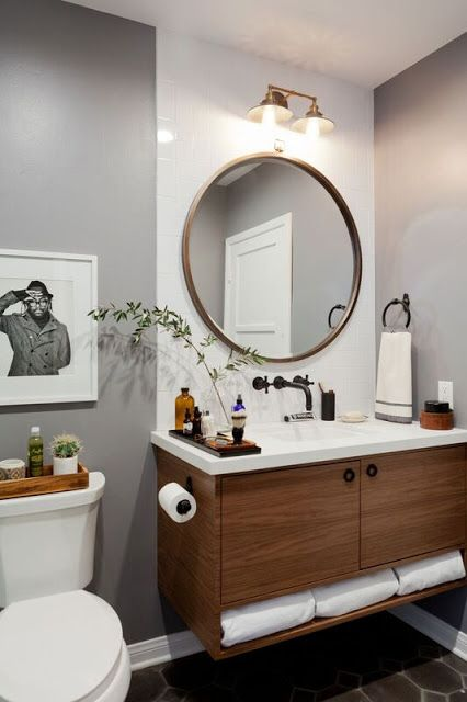 Rosa Beltran Design: A HOMEPOLISH GENTLEMAN'S BATHROOM: BEFORE & AFTER REVEAL