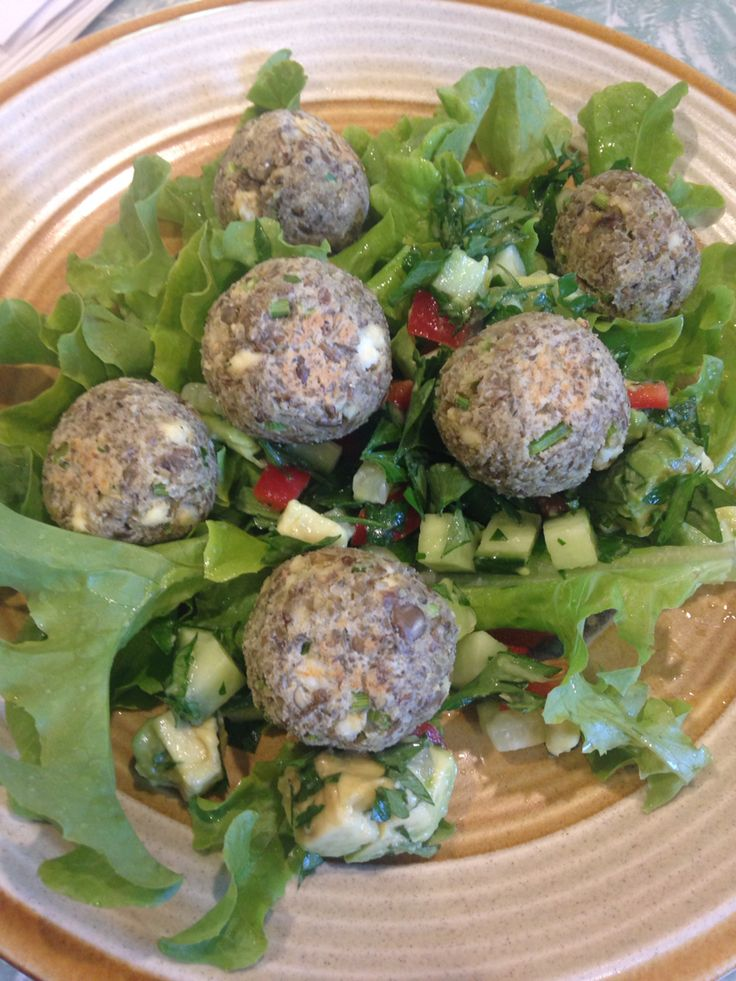 Lentil Meatball Wraps with Avocado + Cucumber Salsa  @iquitsugar #iqs8wp
