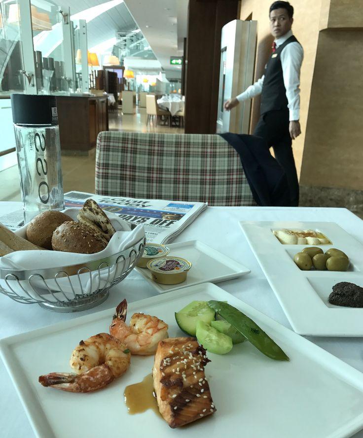 Emirates first class lounge, Dubai