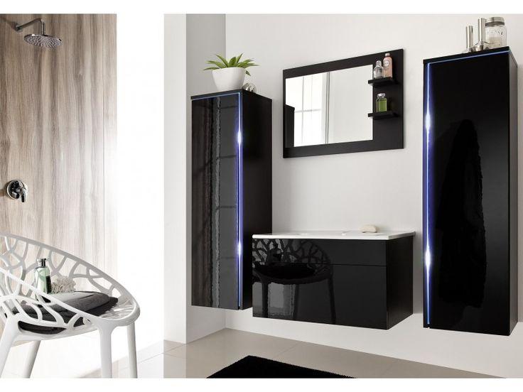 Meble łazienkowe SHINE -czarny/czarny połysk