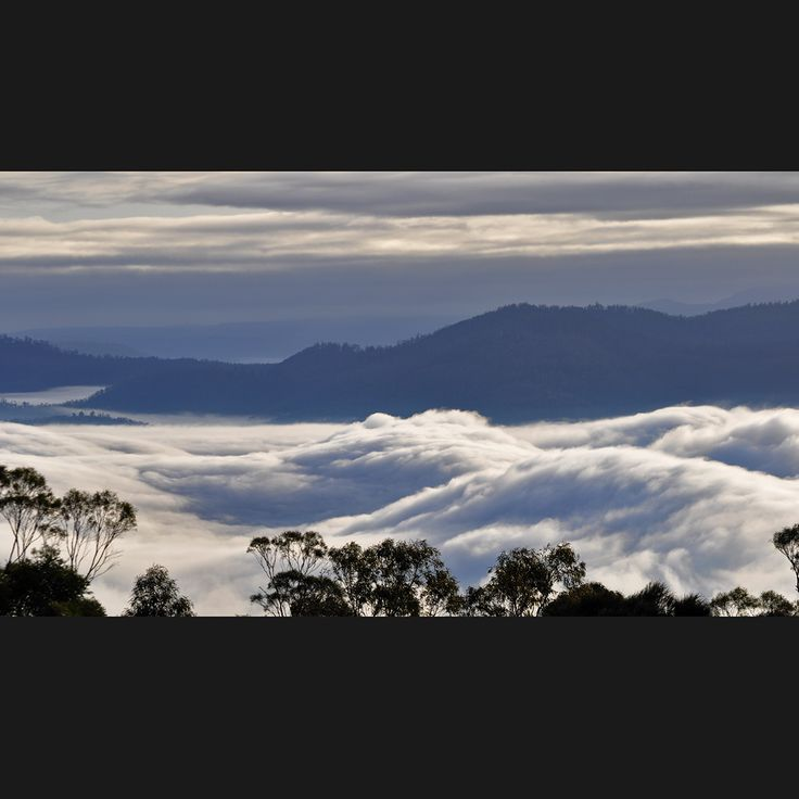 Bridgewater Jerry is a fog formation that forms over the River Derwent in Hobart...it is truly a spectacular sight! Photography by Jane Valentine, Valentine interiors + design.
