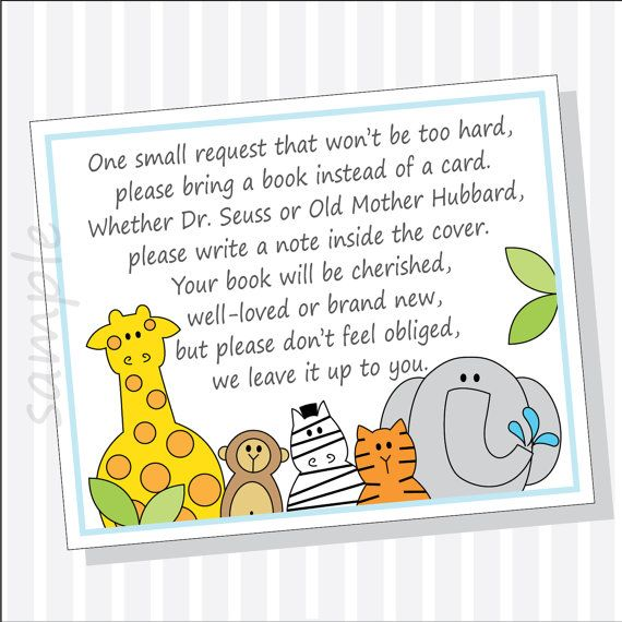 DIY Baby Shower Book Instead Of Card Insert By LilCubbyPrintables, $3.99