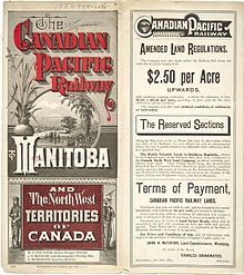 About 478,000 square kilometres of land were given away by the Canadian government under the Dominion Lands Act of 1872.
