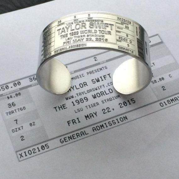 CUSTOMIZABLE Concert Ticket Cuff Bracelet by LoraDouglasJewelry