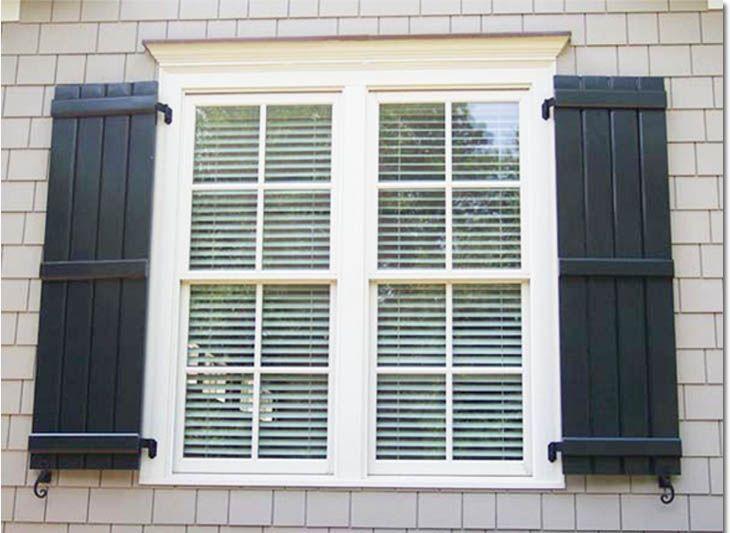 The 25+ best Exterior wood shutters ideas on Pinterest | Diy ...