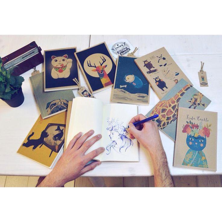 Unleash your fantasy 🎨 #cutenessoverload #booklet #collection #cute #animals #bear #giraffe #deer #dogs #cats #drawing #writing #notebook #funny #artist #szputnyikshop #szputnyik #budapest