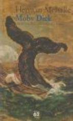 """""""Moby-Dick es una novela del escritor Herman Melville publicada en 1851. Narra la travesía del barco ballenero Pequod, comandado por el capitán Ahab, en la obsesiva y autodestructiva persecución de un gran cachalote blanco."""" Font: Wikipedia (Novel·la)"""