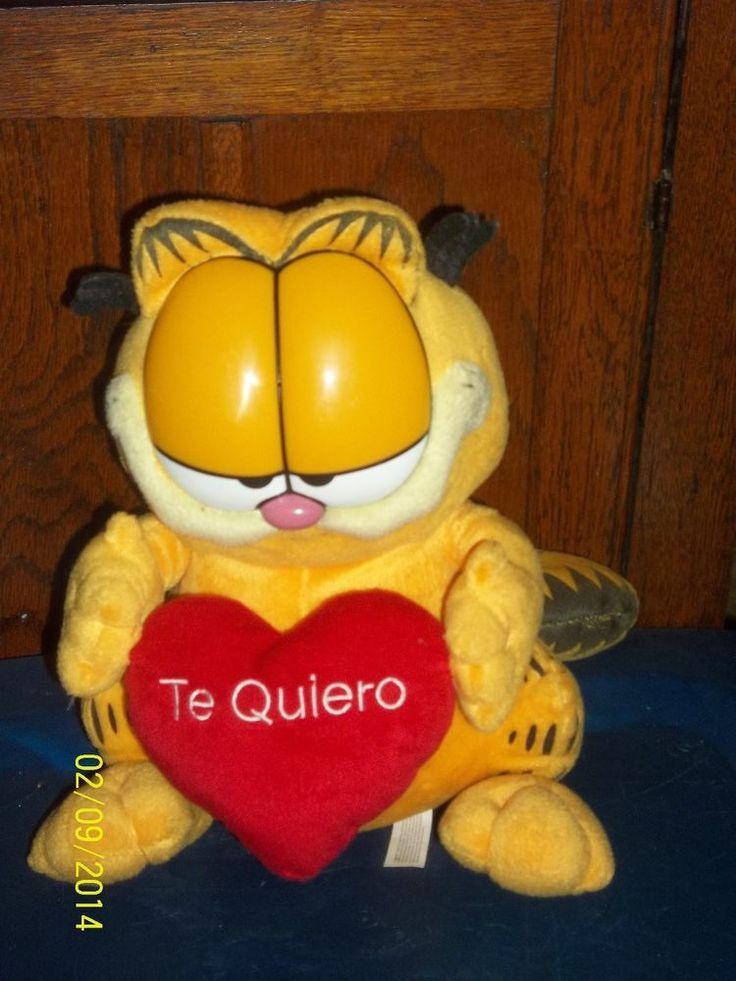 DTM SOANISH GARFIELD THE KITTY CAT WITH HEART TE QUIERO PLUSH