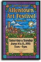 See me  Here in 2012 back again(YES) Allentown Art Festival, Buffalo NY www.artyardstudio.com