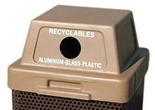 plastic lids 30 gallon and 53 gallon for concrete cans square round