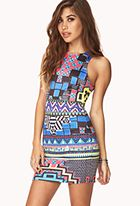 Electric Tribal Print Dress