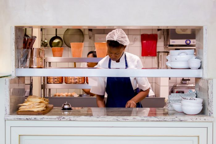 We love Tashas's attention to detail - even the service nook joining the kitchen and the restaurant has granite countertops. Go to www.rudischoice.co.za to pick your favourite granite and marble colours for South Africa and Zimbabwe.