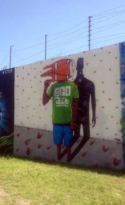 Amoreiras Wall. Lisbon.