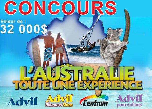 Concours Pfizer Gagnez un Voyage pour 2 en Australie