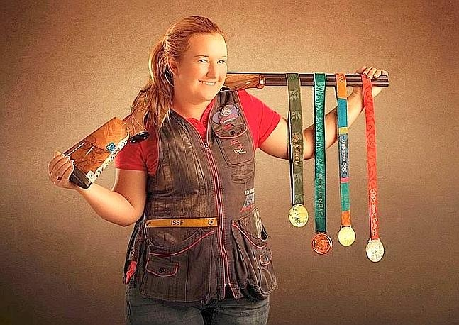 PURE AWESOME! Way to go KIM!!!! She rocks my face off. Hit 99 shots out of 100!!!! #Olympics #KimRhode