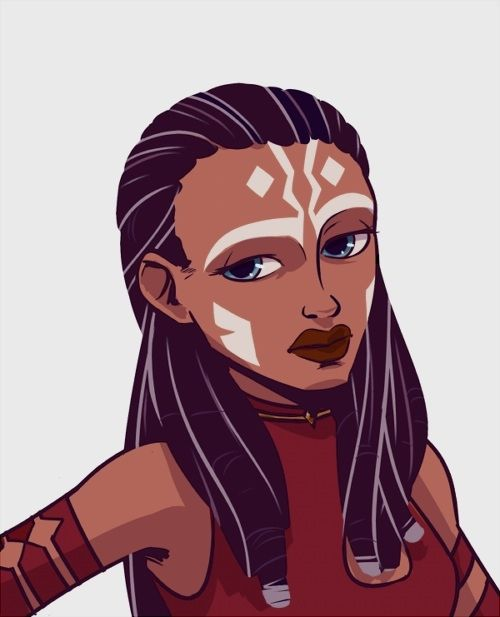 """nikolaspascal: """" cosmic-noir: """" chasafras: """" cosmic-noir: """" I saw this human Ahsoka Tano design by algrnaas and I just HAD to put it on my face because I LOVE IT SO MUCH! """" Holy fuck! You are..."""