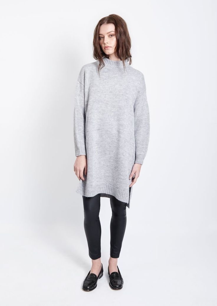 Imonni - Revival Knit Tunic Grey Marle