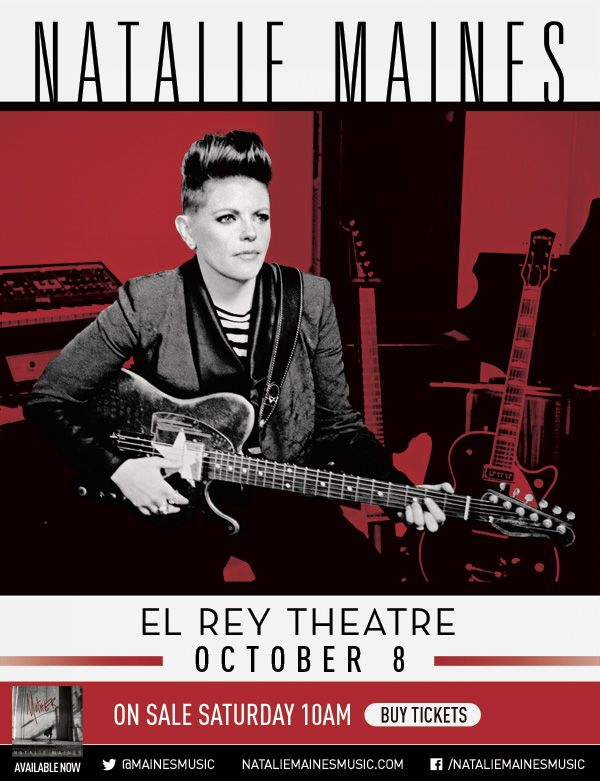 Want Ticket to See Natalie Maines Show in LA?! - http://Beats4LA.com/natalie-maines-ticket-giveaway/