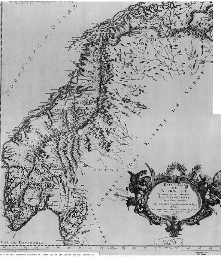 Map of Norway - 1668