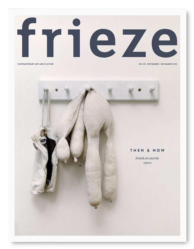 Frieze issue no.159.  British Art then and now. Atelier Dyakova — editorial design.