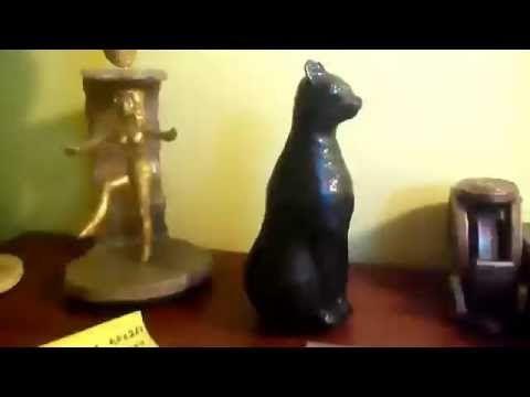 Γάτος από paper mache. - YouTube