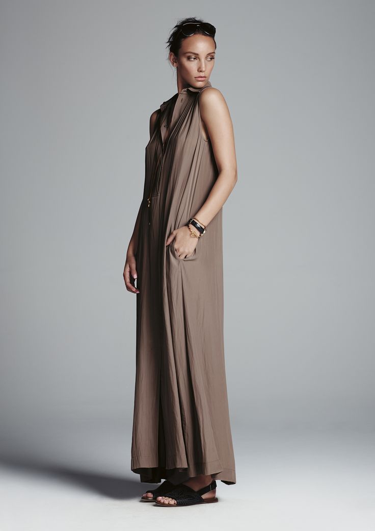 Clay maxi shirt dress.
