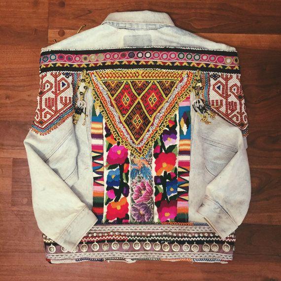 Reserva de chaqueta Denim adornos por wildandfreejewelry en Etsy