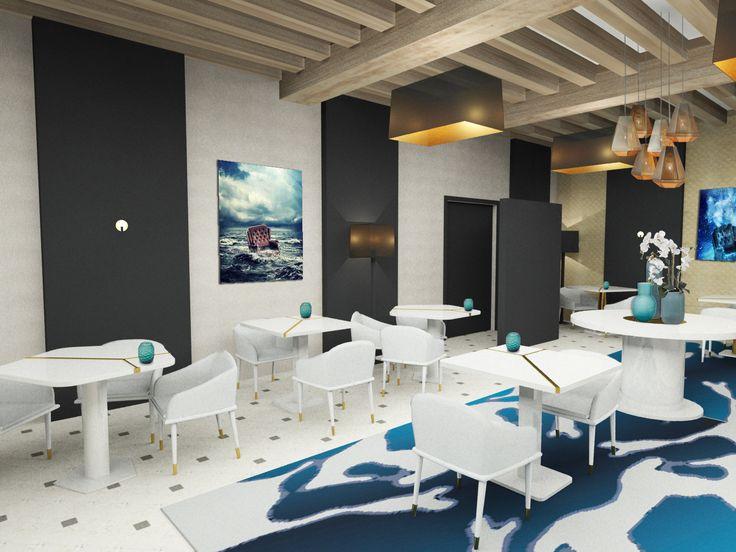 3DS Max render - www.carolinetissier.com - Caroline Tissier Intérieurs - restaurant