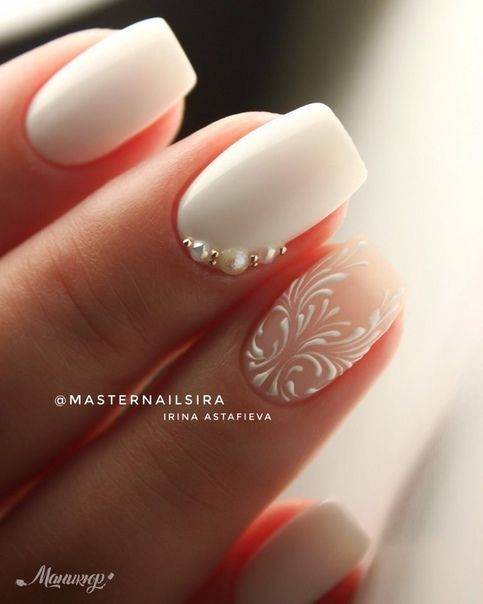 32 Best Wedding Nail Art Design Ideas | Wow, so pretty