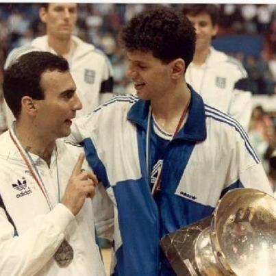 Nikos Galis & Drazen Petrovic. European Basketball Legends.