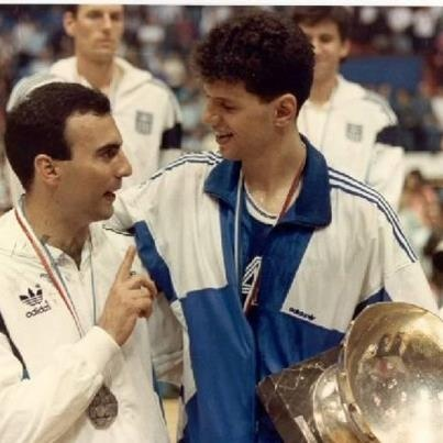 Nikos Galis & Drazen Petrovic. European Basketball Legends.