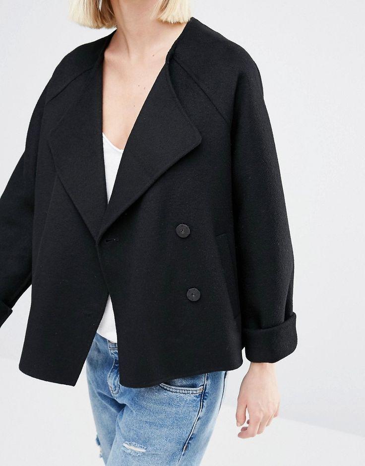 Image 3 - Selected - Dana - Manteau court en laine feutrée