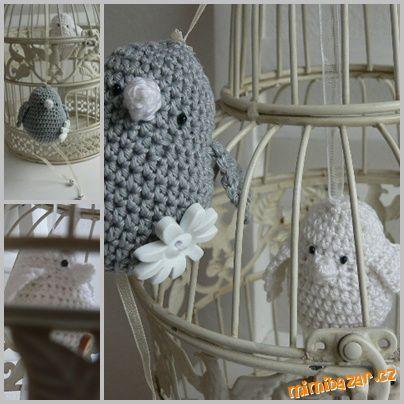 HÁČKOVÁNÍ - ♥♥♥ Ptáček od Pavlínky ♥♥♥