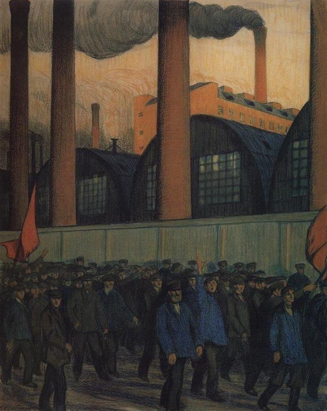 Strike - Boris Kustodiev, 1906